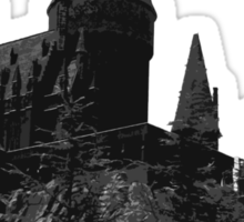 Grey-scale Hogwarts Sticker