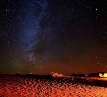 Stars Galaxy Sky over Death Valley Desert Sand by Gavin Heffernan