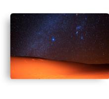 Starscape Over Death Valley Sand Dunes Canvas Print