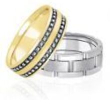 Gold wedding bands and Anniversary rings by weddingbands25