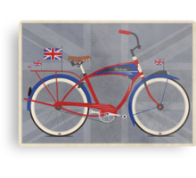 British Bicycle Metal Print