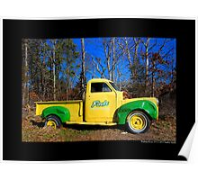 Finks Country Farm Old Truck - Wading River, New York Poster
