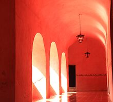 Sunlit Pink Arches  by Roupen  Baker