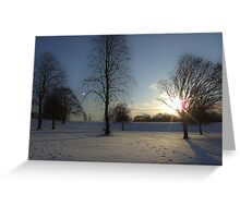 Winter snow in the park, Heaton Park Greeting Card