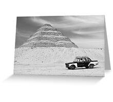 Taxi Pyramid Egypt Greeting Card