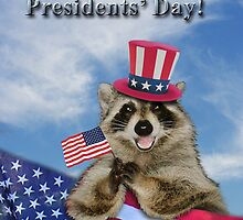 Presidents Day Raccoon by jkartlife