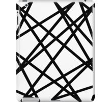 Black lines iPad Case/Skin