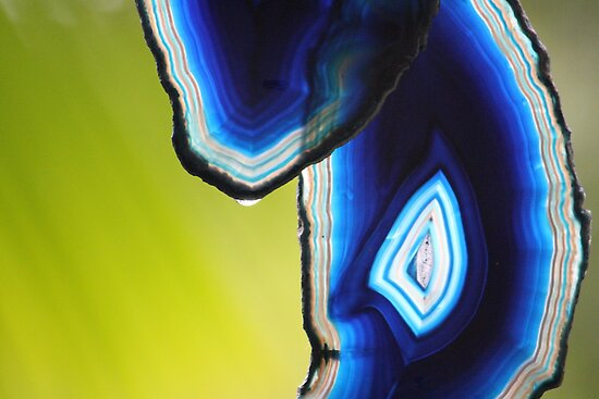 Crystal: Blue Agate & A Drop of Rain by aussiebushstick