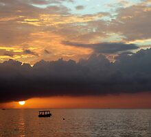 Negril Beach Sunset by Laurel Talabere
