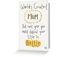 World's Greatest Mum Greeting Card