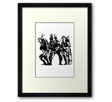 Ghostbusters Film Poster Silhouette Framed Print