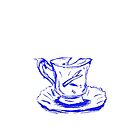 Blue Chipped Cup by hannahturner21