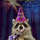 New Years Raccoon by jkartlife