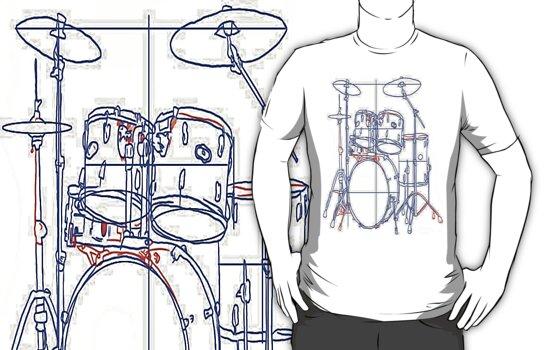 Drum Sketch by whatsupmrbid