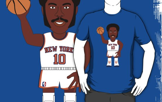 Caricatura de Walt Frazier, base de los New York Knicks by D4RK0
