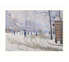 Snow, Boulevard de Clichy, Paris, 1886 Art Print