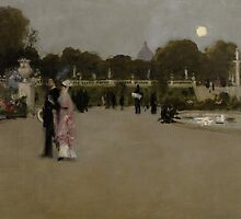 Luxembourg Gardens at Twilight, 1879 by Bridgeman Art Library