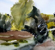 Landscape from Sweden by May Hege  Rygel