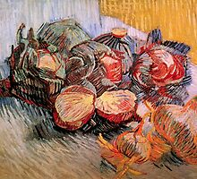 Still Life with Red Cabbages and Onions by Vincent van Gogh.   by naturematters