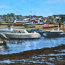 christchurch hengistbury head beach with boats by martyee
