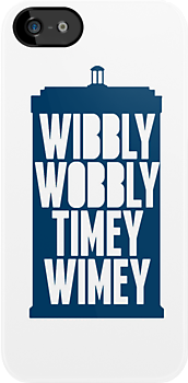 Wibbly Wobbly Timey Wimey (Blue) by roisinmcgee
