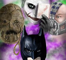 Batman and Villains  by PandorasEncore