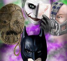 Batman and Villains  by PandorasEncore