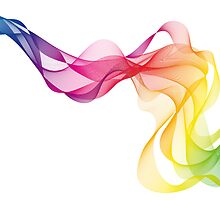 abstract colorful smoke, color waves pattern by beakraus