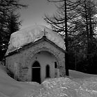 Church in a white forest by Alessiocorner
