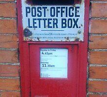 Vintage Post box, southsea, Portsmouth, England U.K. by pennycrayon