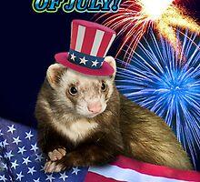 Fourth Of July Ferret by jkartlife
