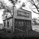 Old Sinclair Station (Black & White) by David Kocherhans