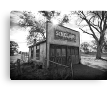 Old Sinclair Station (Black & White) Canvas Print