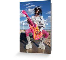 Rock Star Hero Greeting Card