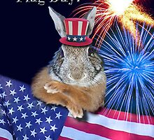 Flag Day Bunny Rabbit by jkartlife