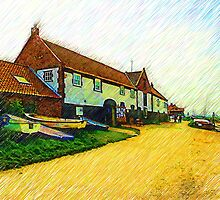 The Boathouse Burnham Overy Staithe by Chris Thaxter