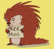 Porcupines just wanna hug Kids Clothes
