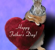 Father's Day Bunny Rabbit by jkartlife