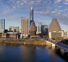 Austin Skyline and Ladybird Lake from the Hyatt Panorama by RobGreebonPhoto