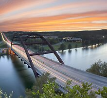 Pennybacker Bridge Panorama, Austin, Texas 3 by RobGreebonPhoto