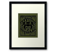 Ancient physic tandem war elephant Framed Print