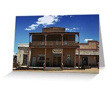 ApacheLand Saloon & Restaurant #10575 Greeting Card