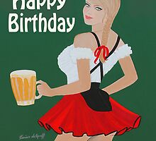 Birthday beer wench by Artistkaz