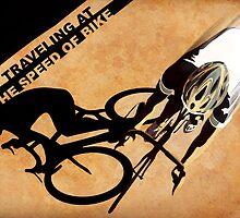 Traveling at the speed of bike retro illustration by SFDesignstudio