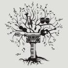 Melody Tree - Dark Silhouette by zomboy