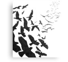 Flock of Birds in Flight Metal Print