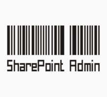 SharePoint Admin Barcode by myclubtees