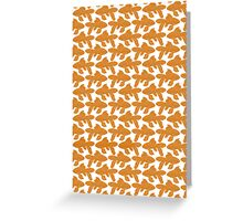 School of Goldfish Pattern Greeting Card
