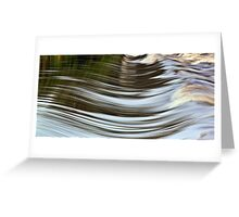 Water Curves Greeting Card