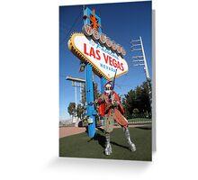 Juggle Jester in Vegas Greeting Card